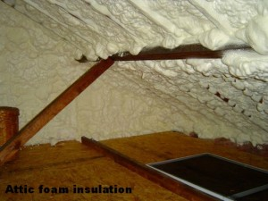 Tucson Attic foam insulation Pic